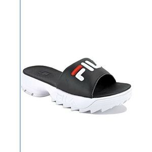 FILA • Disruptor Bold Slides Black/White
